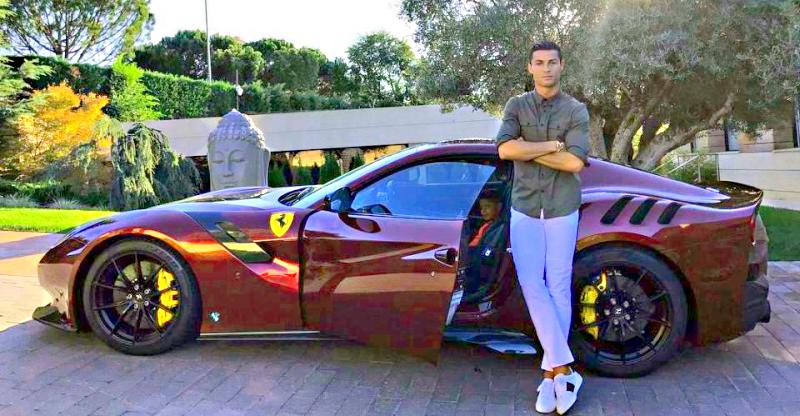 Cristiano Ronaldo Buys New Ferrari F12 Tdf Supercar