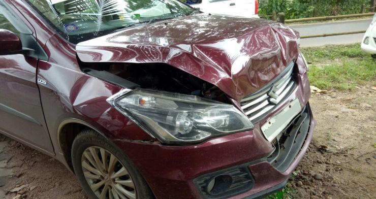 Maruti Ciaz Rear-End Crash