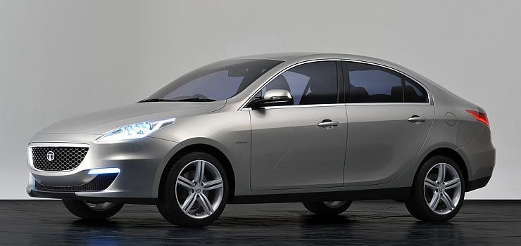 Tata Prima sedan concept used as an illustration