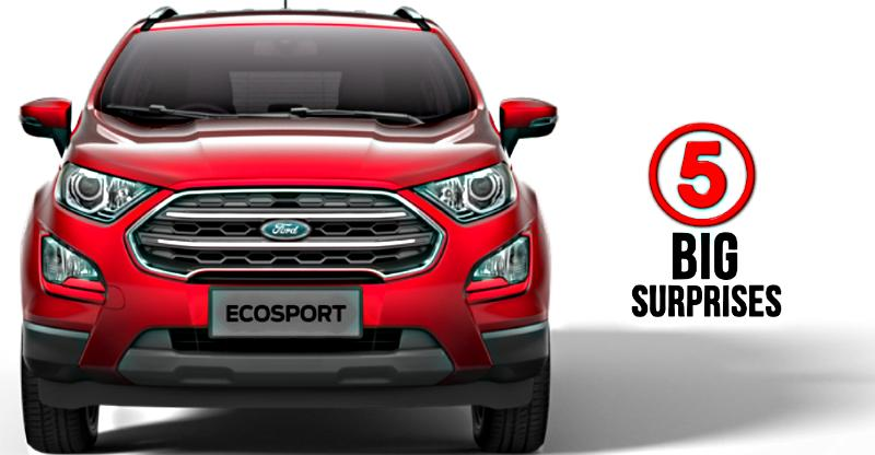 Ford EcoSport Facelift 5 BIG Surprises