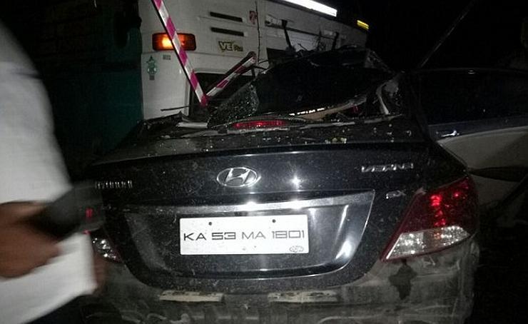 Hyundai Verna Crash Bangalore