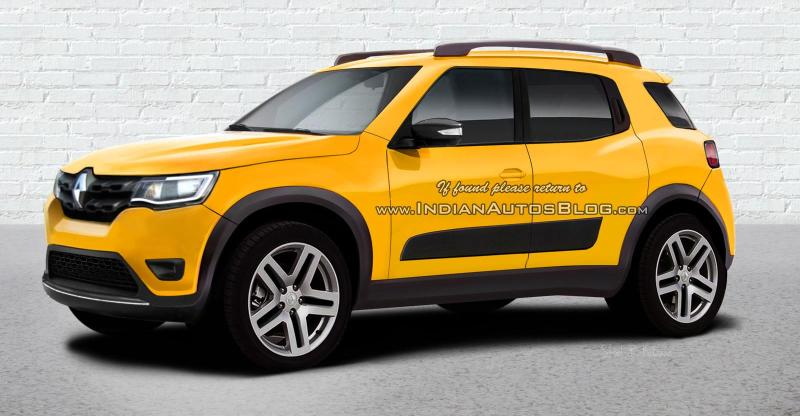renault kwid based suv could be revealed at the 2018 auto expo. Black Bedroom Furniture Sets. Home Design Ideas