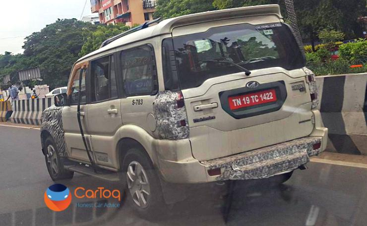 Mahindra Scorpio Facelift Spyshot Featured