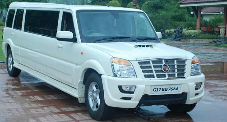 modified Mahindra Scorpio to Cadillac Escalade Limousine