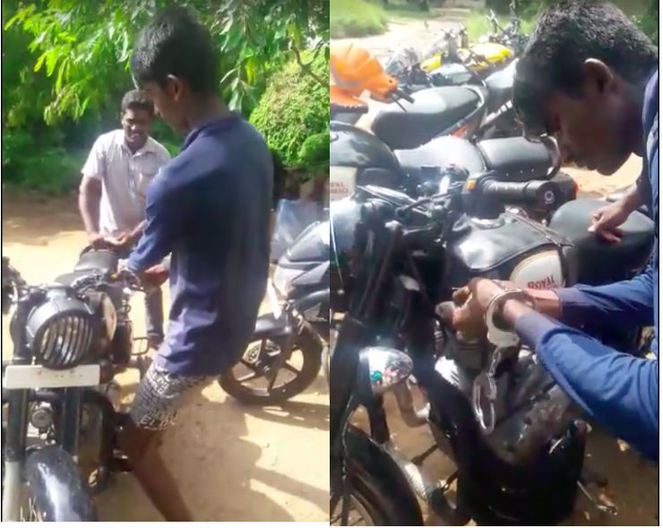 Bike thieves show how EASY it is to steal a Royal Enfield