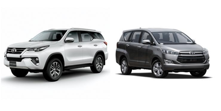 Toyota Fortuner & Innova Crysta