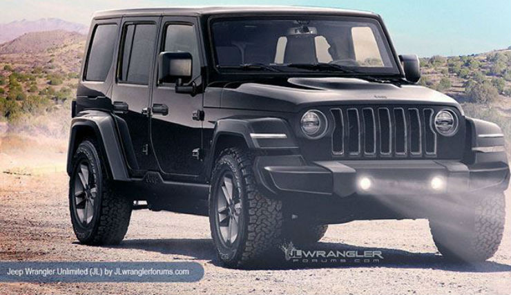 Rest Of The Exterior Remains Similar To The Current Model Of The Vehicle. Jeep  Wrangler ...