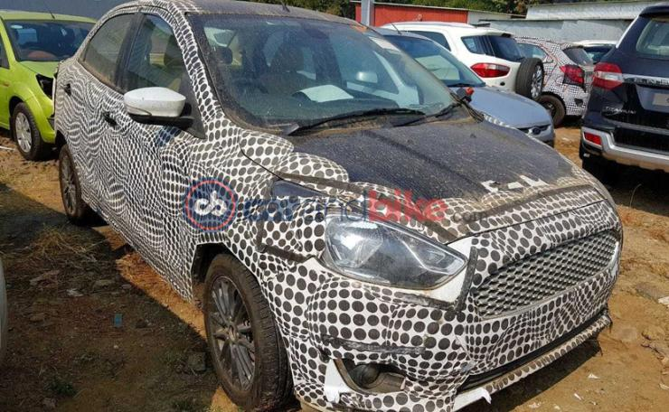 Facelifted Ford Figo hatchback spied in India