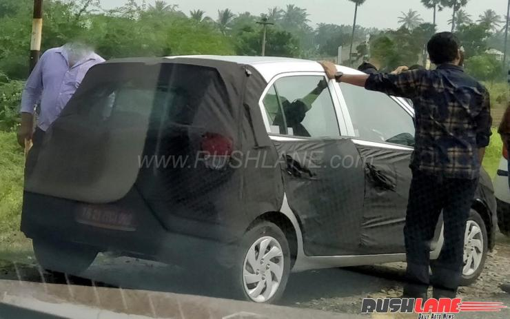 2018 Hyundai Small Car Santro Replacement Kwid Rival Spied In India