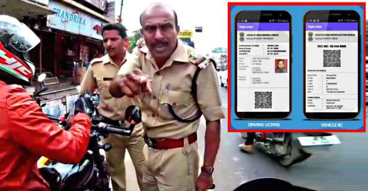 """Show it to Modi,"" traffic police tells biker who showed documents on Digilocker app"