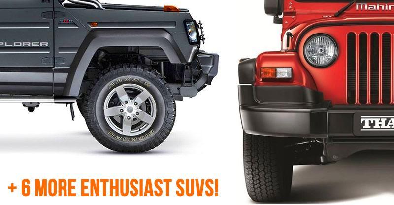 8 affordable, enthusiast-focused SUVs of India