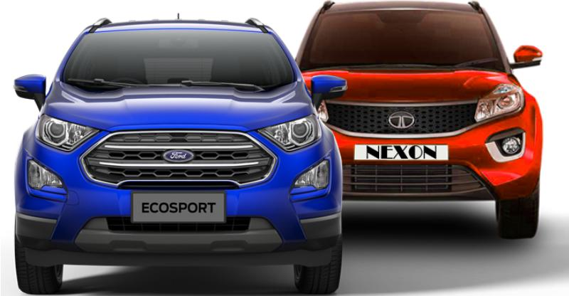 Ford Ecosport Facelift vs Tata Nexon compact SUVs: Who should buy what