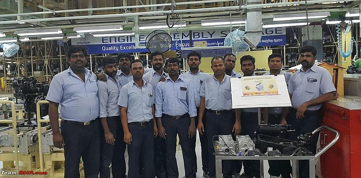 2018 Hyundai Santro (code-named AH2) hatchback engine production started at Chennai factory