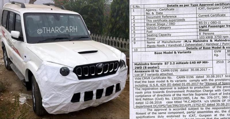 Mahindra Scorpio Facelift 140 Bhp Featured