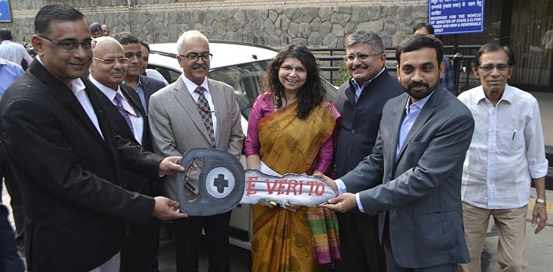 Mahindra begins delivering e-Verito electric sedan to EESL