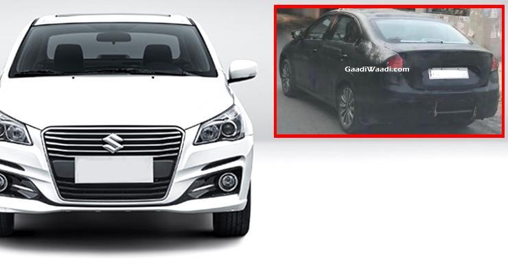 Maruti Ciaz Facelift Featured Spyshot