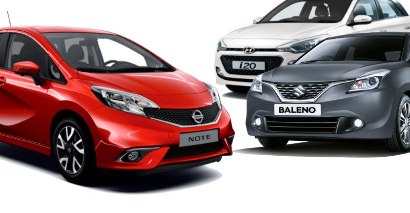 Nissan Note e-Power (Baleno & i20 challenger) premium hatchback spied in India