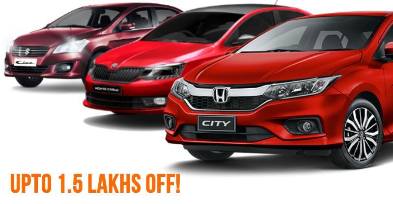 10 sedans with BIG discounts; From Maruti Ciaz to Honda City