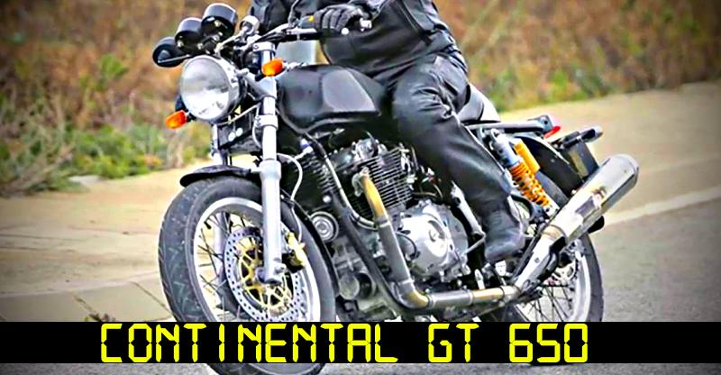 Royal Enfield Continental GT 650 is the name of the new, twin cylinder cafe racer motorcycle