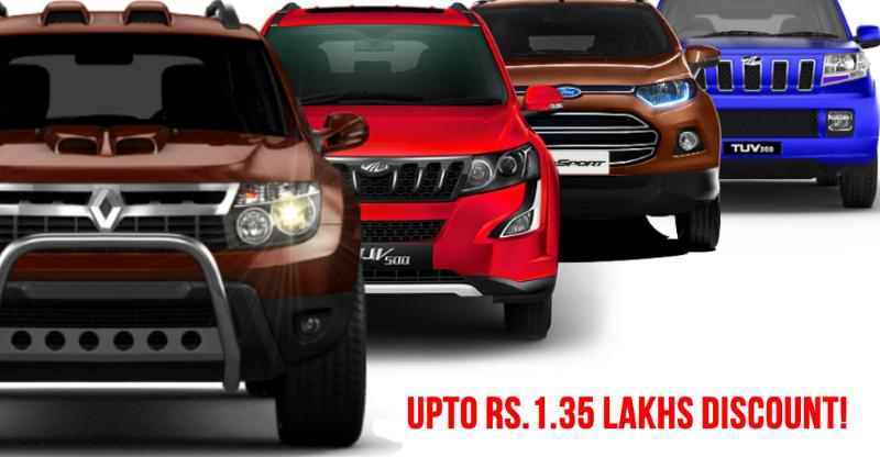 10 GREAT discounts on SUVs: From Duster & EcoSport to Scorpio & XUV