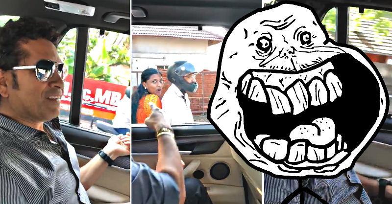 Sachin Tendulkar asks lady pillion rider to wear a helmet; Gets trolled