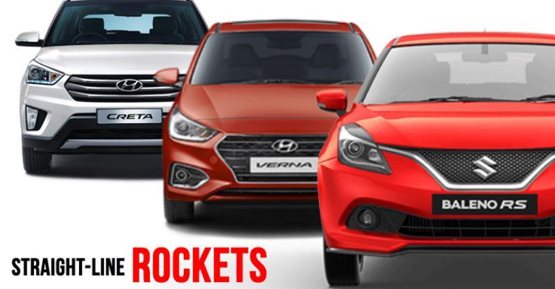 10 affordable, petrol-powered 'straight-line ROCKET' cars & SUVs of India; Baleno to Creta