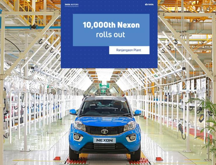 Tata Nexon production breaches the 10,000 mark at Fiat's Ranjangaon factory