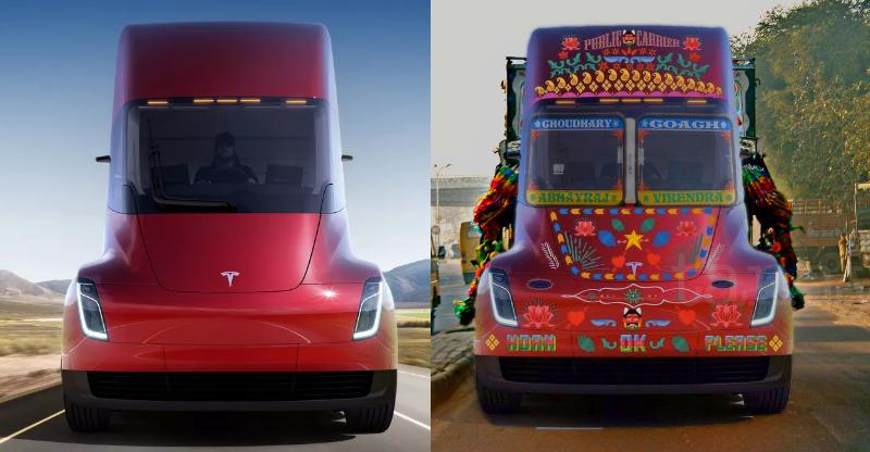 If Tesla launches a semi-truck in India, this is what it'll look like