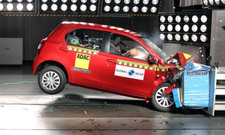 India-made Toyota Etios Liva hatchback scores 4 stars in Global NCAP crash test