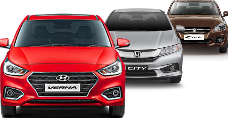 Hyundai Verna beats Honda City & Maruti Ciaz