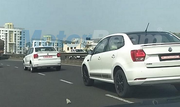 Volkswagen Ameo Sport compact sedan spied; To challenge Ford Figo Aspire S