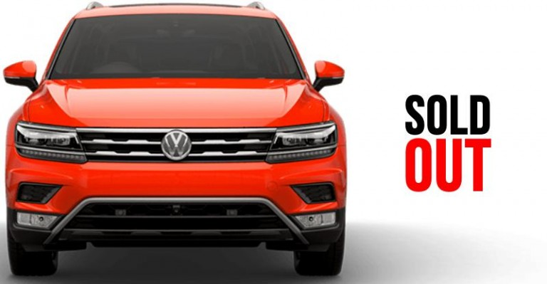 Volkswagen Tiguan SUV sold out in India