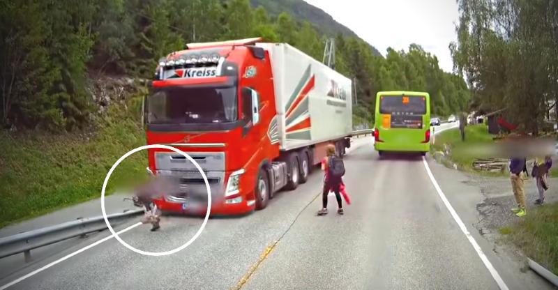 Volvo emergency braking saves child from certain death: Must watch video!