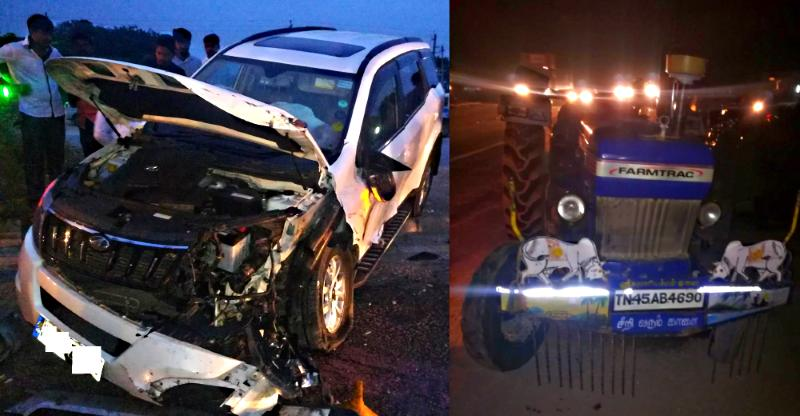 Mahindra XUV500 crashes into a tractor: Here's the result