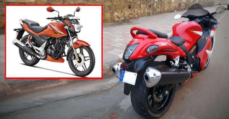Bajaj Pulsar, Hero Karizma & Xtreme modified into SuzukiHayabusa superbikereplicas