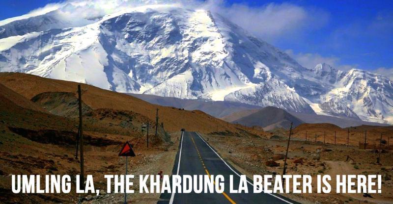 Planning Ladakh road trip? Khardung la is now no.2, Umling la no.1