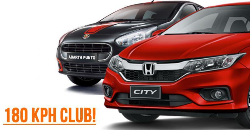 10 sub-10 lakh rupee cars that can do 180 Kph; Honda City, VW Polo, Fiat Punto Abarth & more