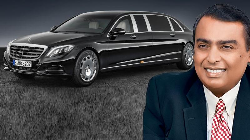 Mukesh ambani 39 s next car the 25 crore rupee w222 mercedes for Mercedes benz s guard for sale