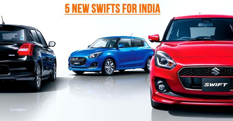 5 NEW Maruti Suzuki Swifts coming to India