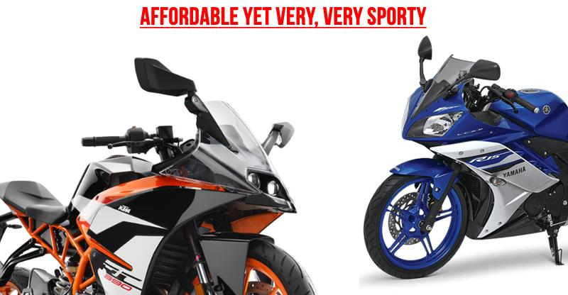 6 affordable sportsbikes in India for racing fans; Yamaha R15 to KTM RC390