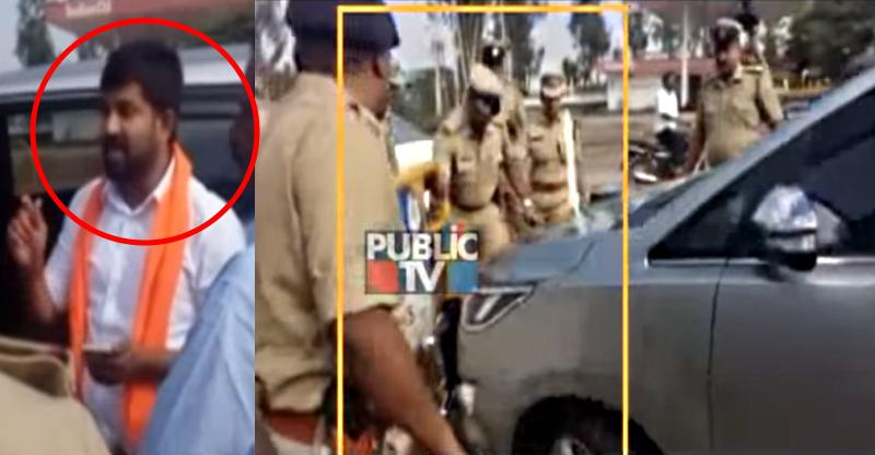 [Video] BJP MP breaks barricade nearly runs over cops in his Toyota Innova Crysta; Arrested