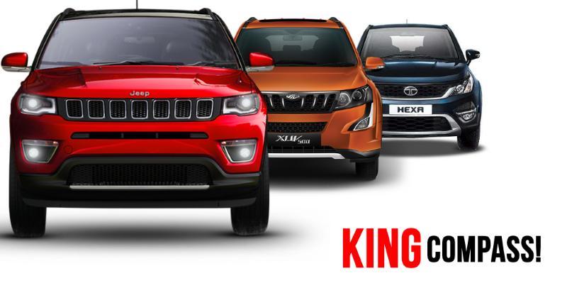 Jeep Compass outsells Mahindra XUV500 & Tata Hexa in a BIG way