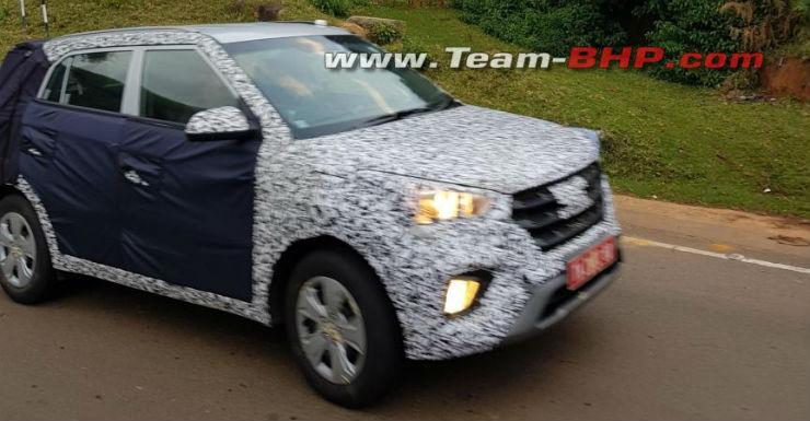 Hyundai Creta SUV spied testing in India again before launch
