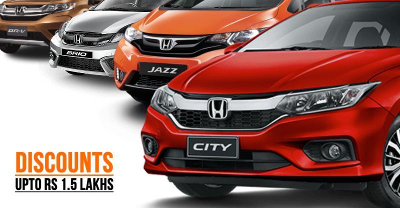 HUGE December discounts on Honda City, Jazz, Amaze, Brio BR-V & CR-V