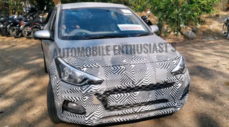 Hyundai i20 Elite Facelift SPIED on video