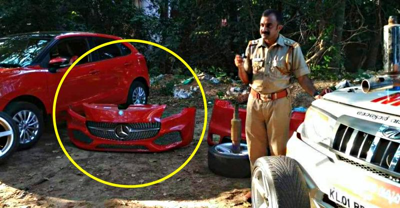 Kerala RTO seize & dismantle car modified to look like a Mercedes A-Class