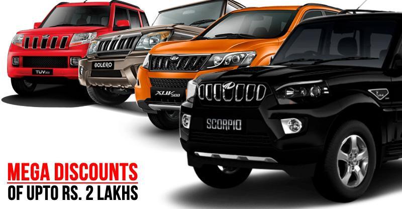 MEGA Mahindra December discount deals on Scorpio, XUV500, TUV, KUV, Bolero & E20