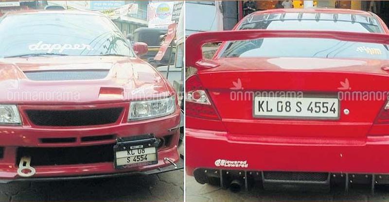 Kerala RTO seize Mitsubishi Lancer because it was modified to look like a 'Ferrari'