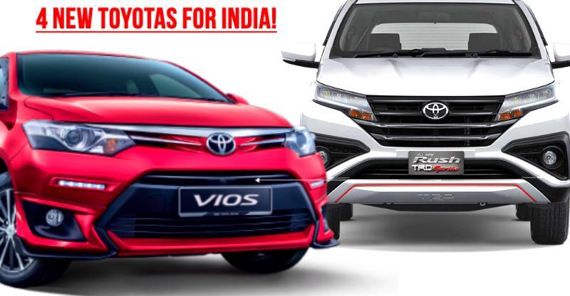 4 new Toyota cars & SUVs coming to India: Honda City and Hyundai Creta rivals