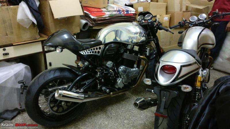 Norton Commando & Dominator motorcycles spotted at the Kinetic